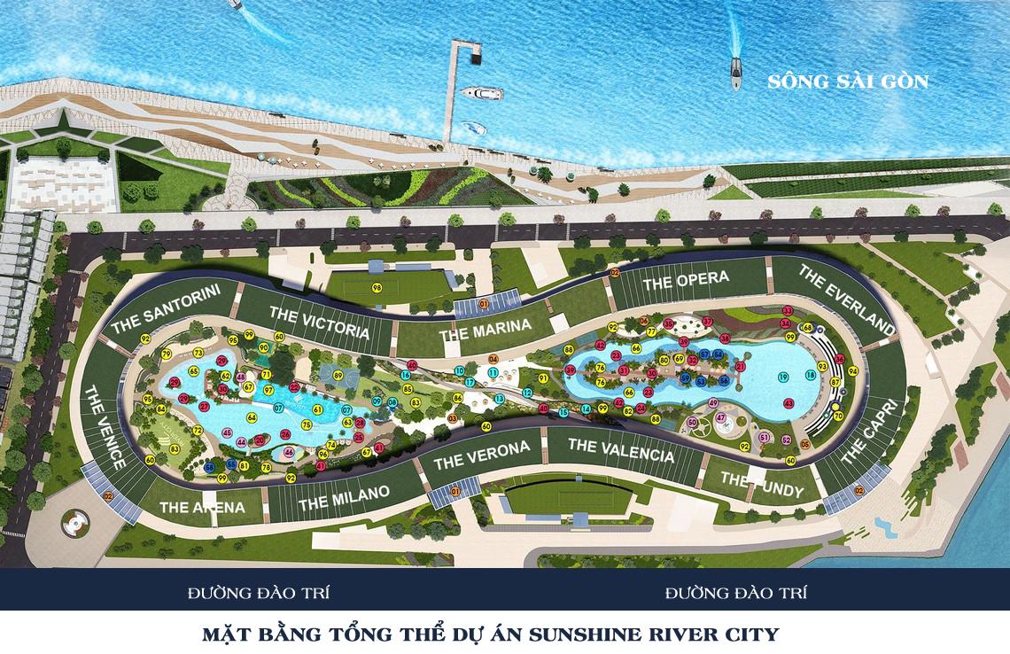 Mặt bằng tổng thể dự án căn hộ chung cư River City Quận 7