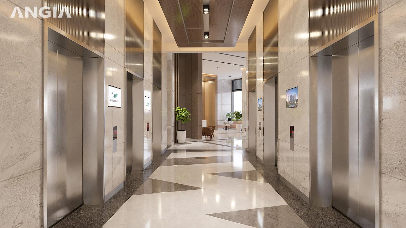 Sảnh thiết kế hiện đại sang trọng tại West Gate