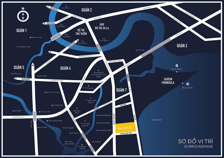 Vị trí địa chỉ khu căn hộ Smartel Signial Quận 7 tập đoàn An Gia