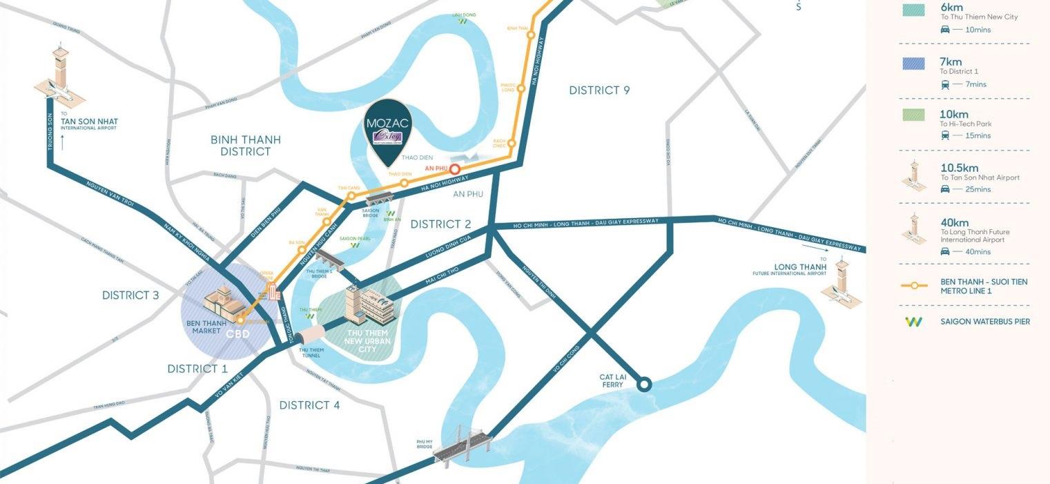 vị trí dự án căn hộ Thảo Điền