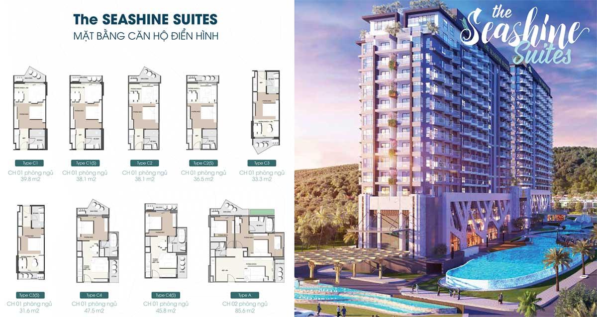 Phối cảnh căn hộ Block The Seashine Suites - The Apus Long Hải